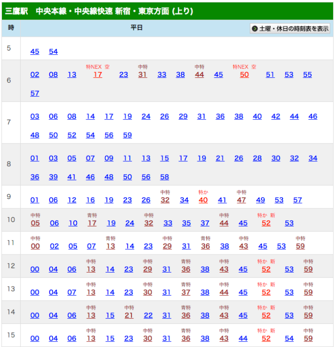 mitaka_timetable2_26163620541_o